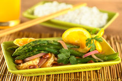Green Asparagus Thai-Style Royalty Free Stock Photography