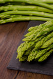 Green asparagus in vertical format Stock Photos