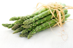 Green asparagus on white background Stock Photography
