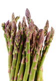 Green asparagus on white background, healthy eating Royalty Free Stock Photography