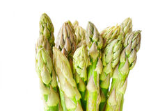 Green asparagus on white. Bunch of fresh green asparagus in front of white background Royalty Free Stock Photo