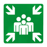 Green assembly point sign Royalty Free Stock Photos