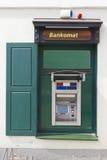 Green ATM cash dispense   device Stock Photography
