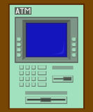 Green ATM machine Royalty Free Stock Images