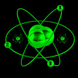 Green atom Royalty Free Stock Photos