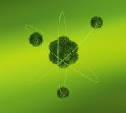 Green Atom concept Stock Image