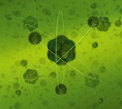 Green Atom concept Royalty Free Stock Image
