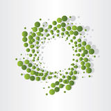 Green atoms micro eco design Royalty Free Stock Photography