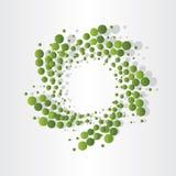 Green atoms micro eco design Royalty Free Stock Photography