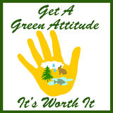 Green attitude Stock Image