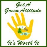 Green Attitude Stock Image