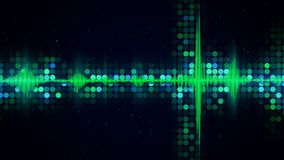 Green audio waveform equalizer abstract techno background. Green audio waveform equalizer. Computer generated abstract technology background Royalty Free Stock Image