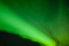 Green Aurora borealis night sky nature background Stock Photo