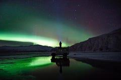 Green, Aurora Borealis, People, Man Royalty Free Stock Image