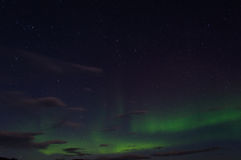 Green Aurora during Dawn Royalty Free Stock Photography