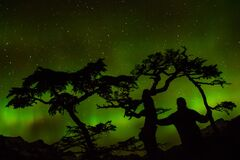 Green Aurora Light Royalty Free Stock Photography