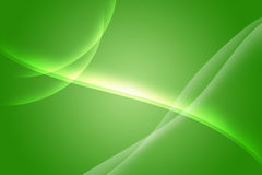 Green aurora. Green and line abstract aurora background vector illustration