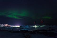 Green Aurora on Teriberka Stock Photography
