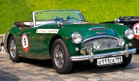 Green Austin Healey 3000 Mk II (1962) Retro Car royalty free stock photos