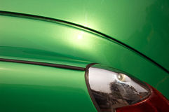 Green Auto Surface. Glossy Green Vintage Auto Surface Stock Images