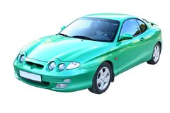 Green automobile Royalty Free Stock Images
