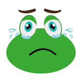 green avatar frog crying, graphic Royalty Free Stock Image