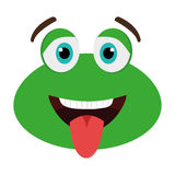 green avatar frog with open mouth, graphic Stock Photo