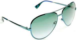 Green aviators. Isolated over white background Royalty Free Stock Photos