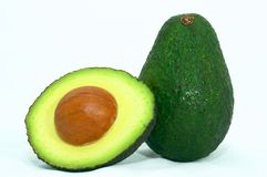 Green Avocado cut Royalty Free Stock Images