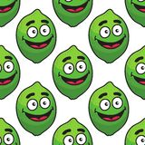 Green avocado fruit seamless pattern Royalty Free Stock Photography