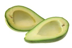 Green avocado, isolated. Stock Photo