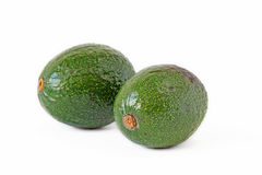 Green avocado isolated on white Royalty Free Stock Images