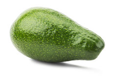 Green avocado isolated on the white background Royalty Free Stock Photos