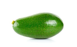 Green avocado isolated on the white background Royalty Free Stock Photography
