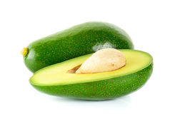 Green avocado isolated on the white background Royalty Free Stock Photo