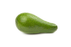 Green avocado with water drops Stock Photo