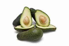 Green avocados. Royalty Free Stock Photos