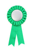 Green award ribbons badge. With white background Stock Photography