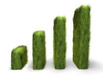 Green awareness chart. Rising green awareness chart concept Stock Photo