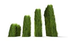 Green awareness chart. Rising green awareness chart concept Royalty Free Stock Image