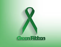Green awareness Ribbon Stock Photography