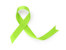 Green awarness ribbon Stock Photos