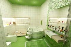 green łazienki Zdjęcie Stock