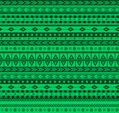 Green aztec pattern. Green vector seamless pattern with traditional aztec elements Stock Image