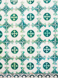 Green azulejos, old tiles in Lisbon, Portugal. Green azulejos, old tiles in the Old Town of Lisbon, Portugal royalty free stock image