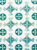 Green azulejos, old tiles in the Old Town of Lisbon, Portugal.  royalty free stock image