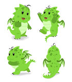 Green baby dragon Stock Images