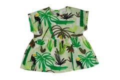 Green baby dress, isolate Stock Photo