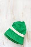 Green baby hat Stock Photos