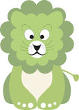 Green baby lion. Vector illustration of a green baby lion stock illustration